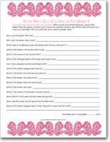 image about Free Printable Bridal Shower Games How Well Do You Know the Bride named Printable Naughty \u201cKnow The Bride\u201d Sport