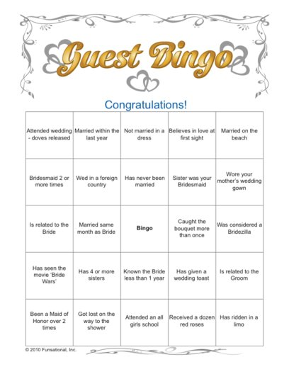 photo relating to Bridal Shower Bingo Free Printable titled Ice Breaker \